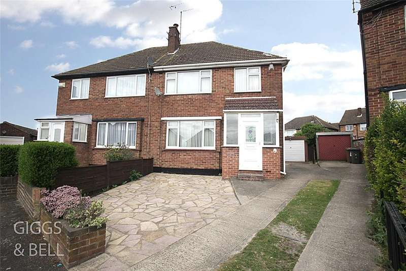 4 Bedrooms Semi Detached House for sale in Cotswold Gardens, Luton, Bedfordshire, LU3