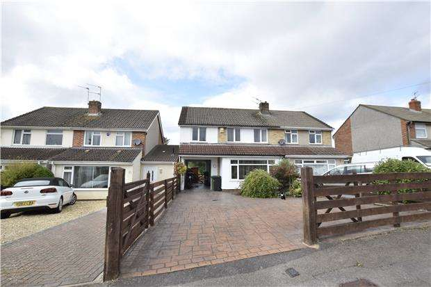 3 Bedrooms Semi Detached House for sale in Hillview Close, Oldland Common, BS30 9RX