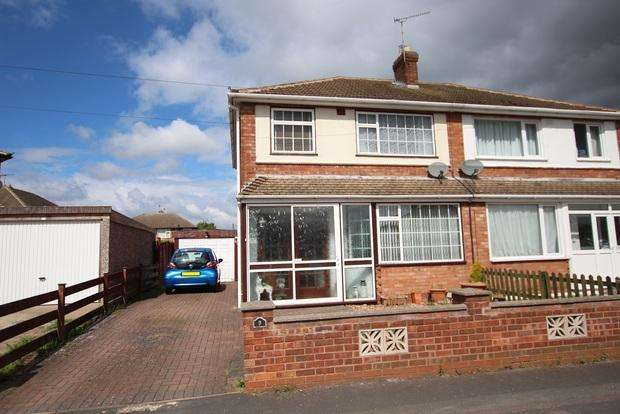 3 Bedrooms Semi Detached House for sale in Belvoir Drive, Syston, Leicester, LE7