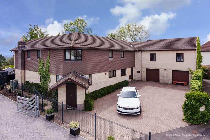 5 Bedrooms Detached House for sale in Sherwood House, 51 Angelton Green, Pen-Y-Fai, Bridgend, Bridgend County Borough, CF31 4LQ