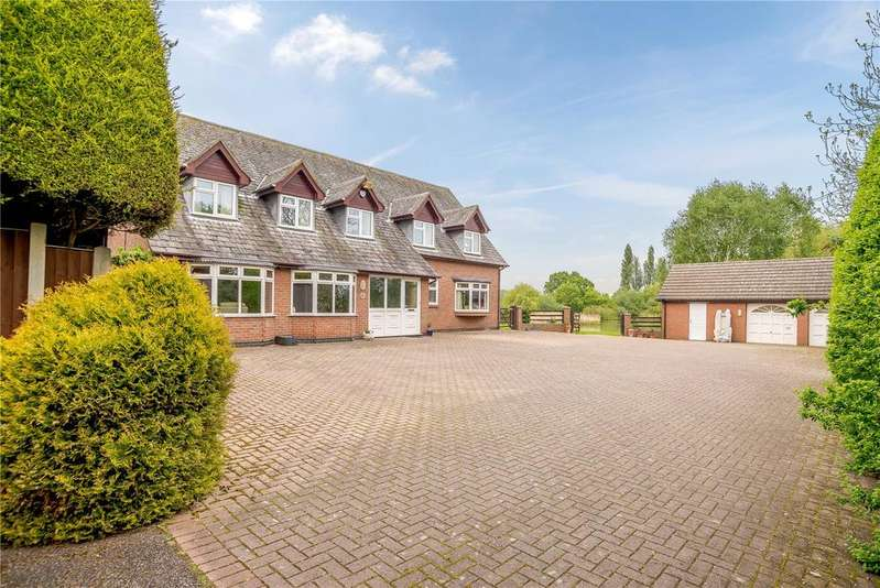 5 Bedrooms Detached House for sale in Sapcote Road, Burbage, Hinckley, Leicestershire, LE10