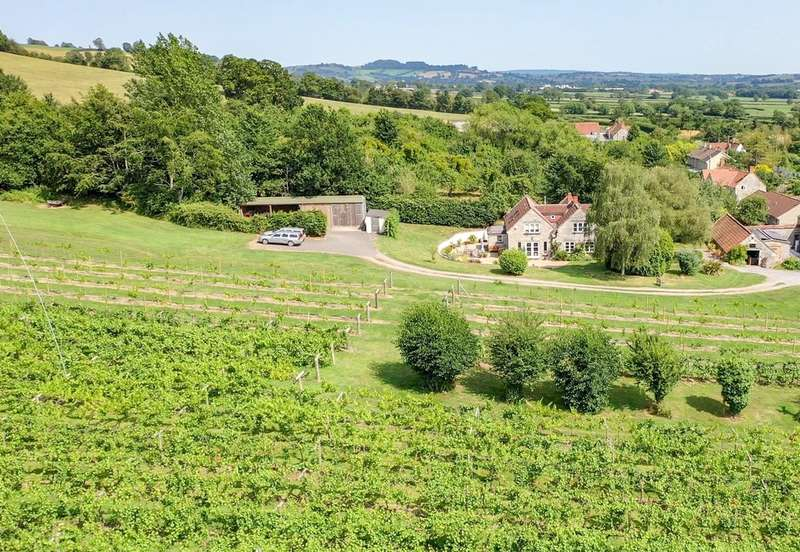 4 Bedrooms Detached House for sale in Wraxall BA4 6RQ. An award winning vineyard; 11 acres; tasting room; delightful house