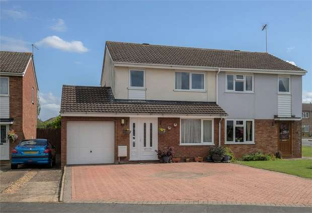 4 Bedrooms Semi Detached House for sale in Ashby Drive, Rushden, Northamptonshire