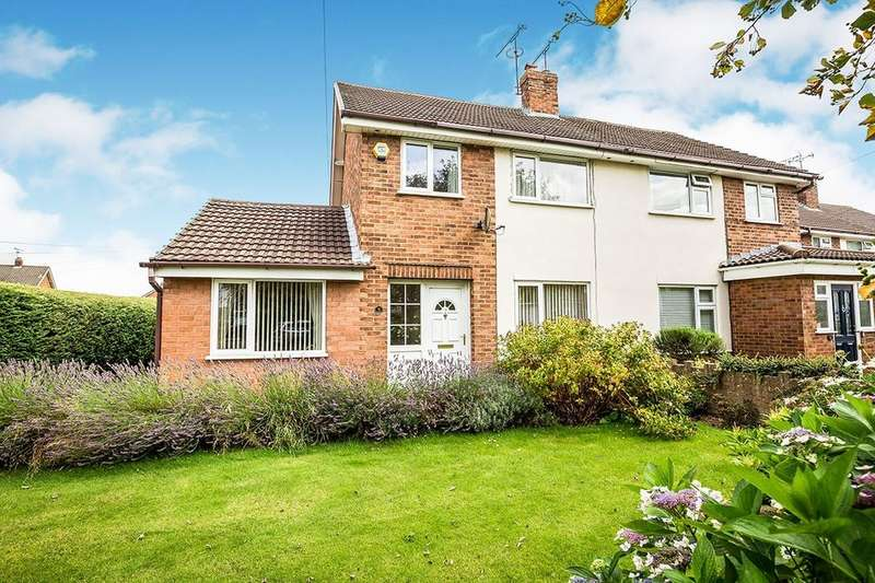 3 Bedrooms Semi Detached House for sale in Sandringham Avenue, Vicars Cross, Chester, CH3