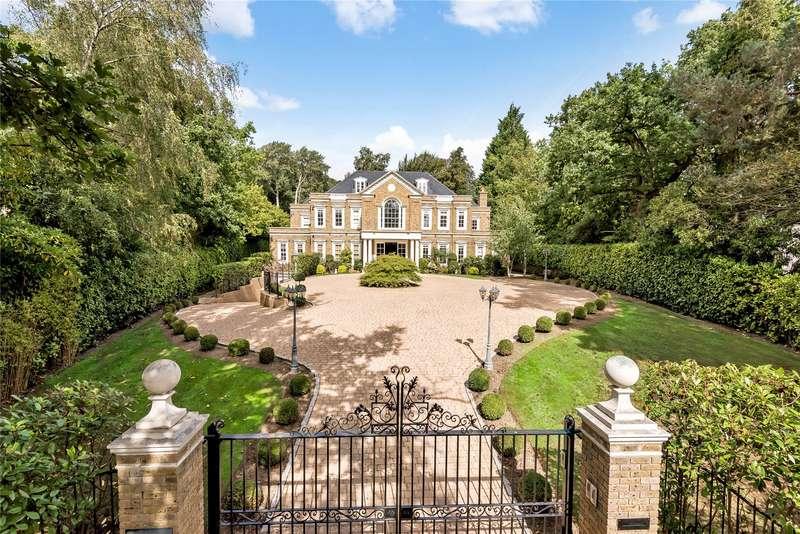 7 Bedrooms Detached House for sale in Woodlands Road East, Virginia Water, Surrey, GU25