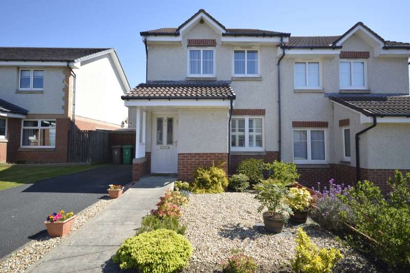 3 Bedrooms Semi Detached House for sale in Jamphlars Court, Cardenden, Lochgelly, Fife, KY5