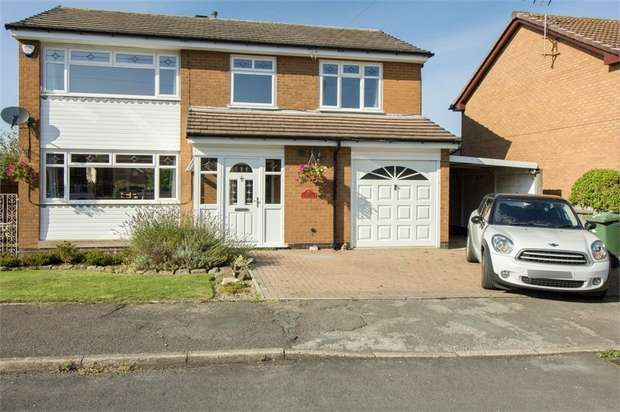 4 Bedrooms Detached House for sale in Cowham Close, Alfreton, Derbyshire