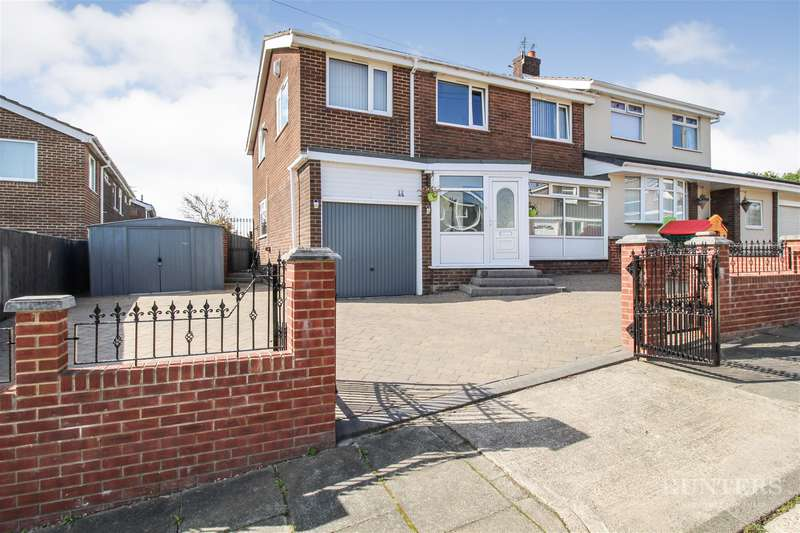 4 Bedrooms Semi Detached House for sale in Broomshields Close, Fulwell Mill, Sunderland, SR5 1SJ