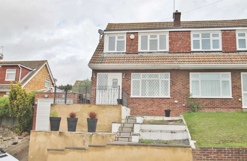 3 Bedrooms Semi Detached House for sale in Flowerhill Way, Istead Rise, Gravesend, DA13 9DW