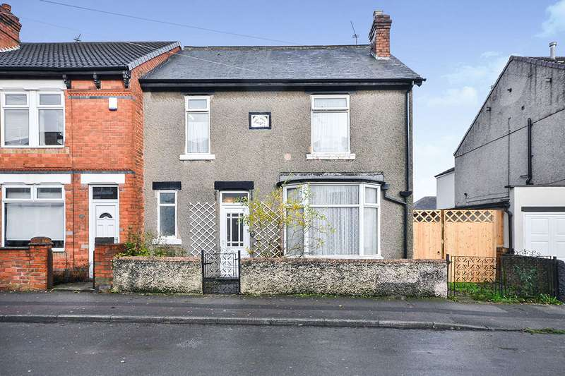3 Bedrooms End Of Terrace House for sale in Vernon Road, Kirkby-in-Ashfield, Nottingham, Nottinghamshire, NG17