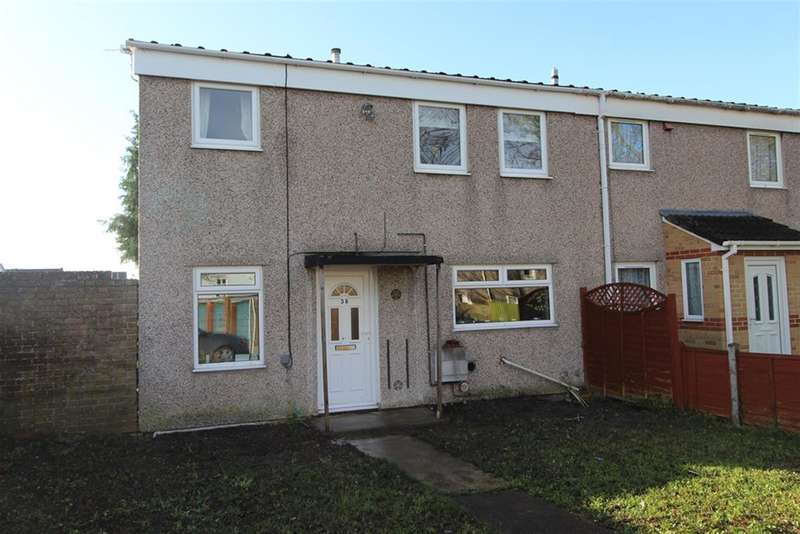 3 Bedrooms End Of Terrace House for sale in Gorlangton Close, Hengrove, Bristol, BS14 9UB