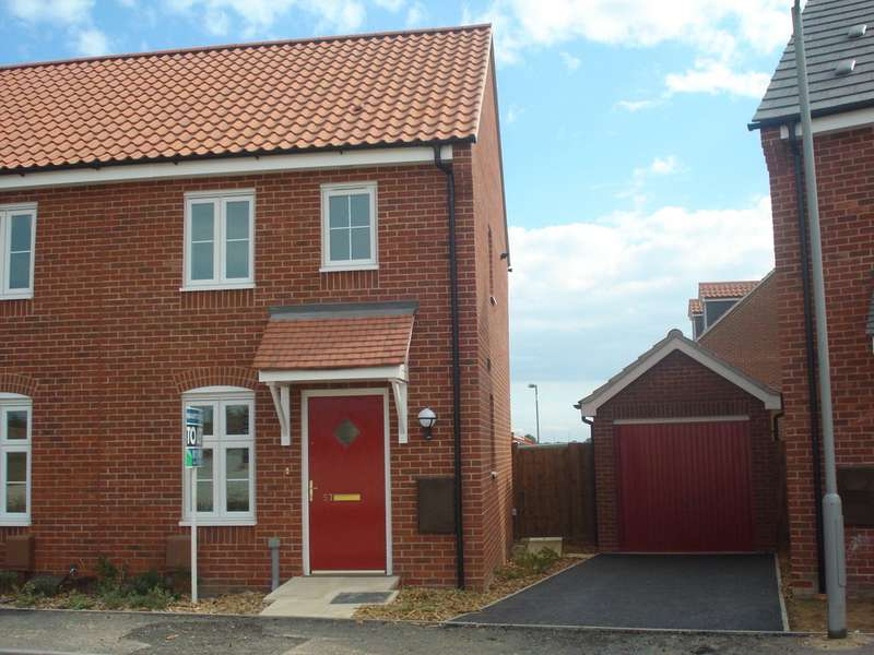 2 Bedrooms Semi Detached House for rent in Juniper Road, Bury St Edmunds IP32