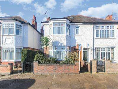 4 Bedrooms Semi Detached House for sale in Meadhurst Road, Leicester