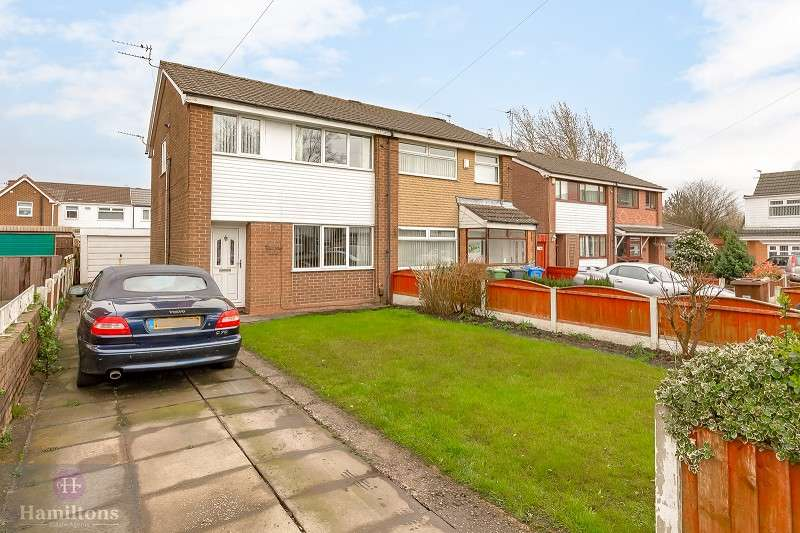 3 Bedrooms Semi Detached House for sale in Suffolk Grove, Leigh, Greater Manchester. WN7 4TA
