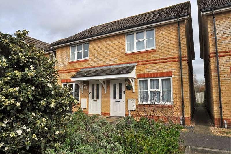 2 Bedrooms Semi Detached House for sale in Kestrel Close, Park Farm, Ashford, Kent, TN23 3RB