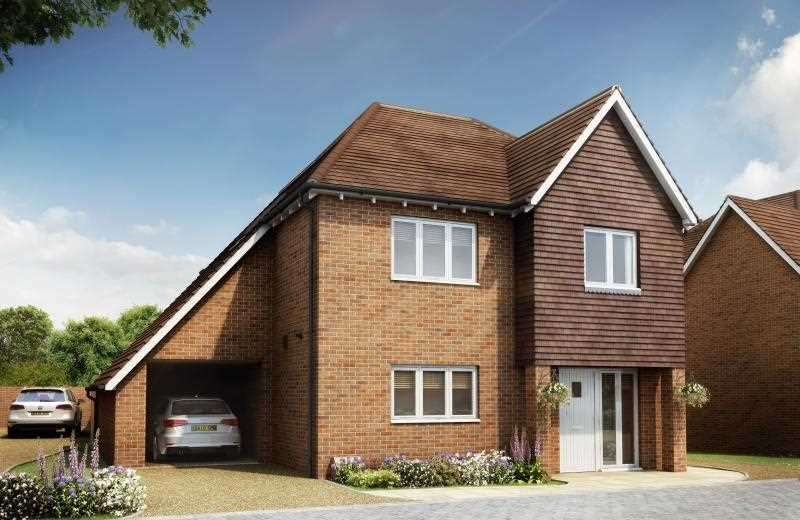 3 Bedrooms Detached House for sale in The Brasted, Berberis Place, Woodchurch Road, Shadoxhurst