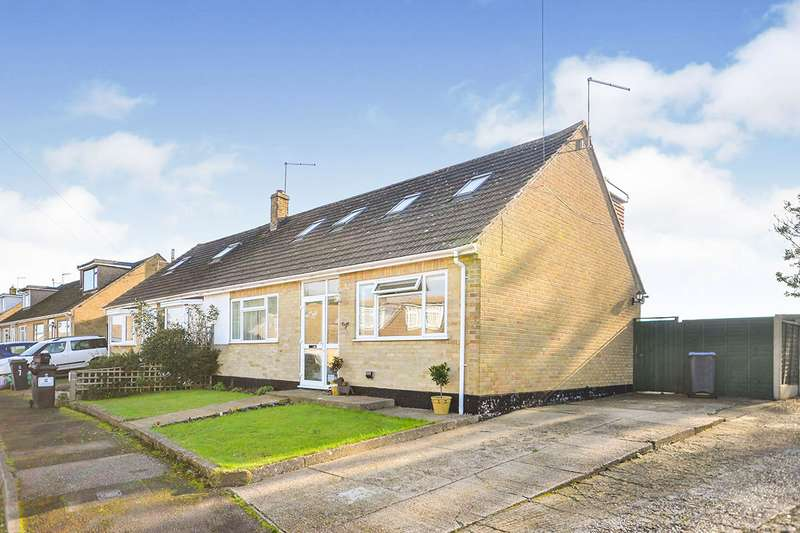 3 Bedrooms Semi Detached Bungalow for sale in Downs Close, East Studdal, Dover, Kent, CT15