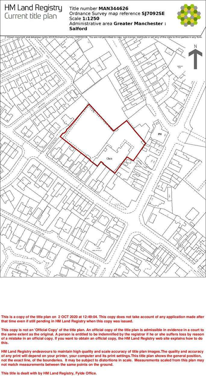 Land Commercial for sale in (Former) Cadishead Conservative Club, Grange Place M44 5UN