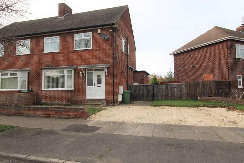 3 Bedrooms Semi Detached House for sale in Reavley Avenue, Bedlington, Northumberland, NE22