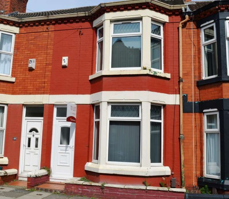 3 Bedrooms Terraced House for rent in Linwood Road, Tranmere, Wirral, CH42