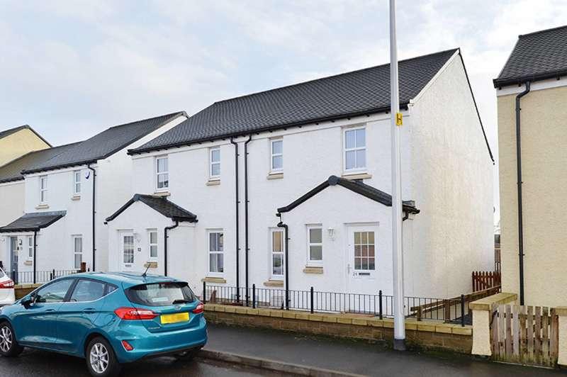 3 Bedrooms Semi Detached House for sale in Knoll Terrace, Galashiels, TD1 2RU