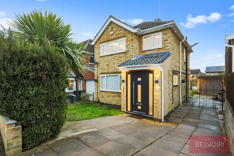 3 Bedrooms Detached House for sale in Bollington Road, Oadby, Oadby, LE2 4ND