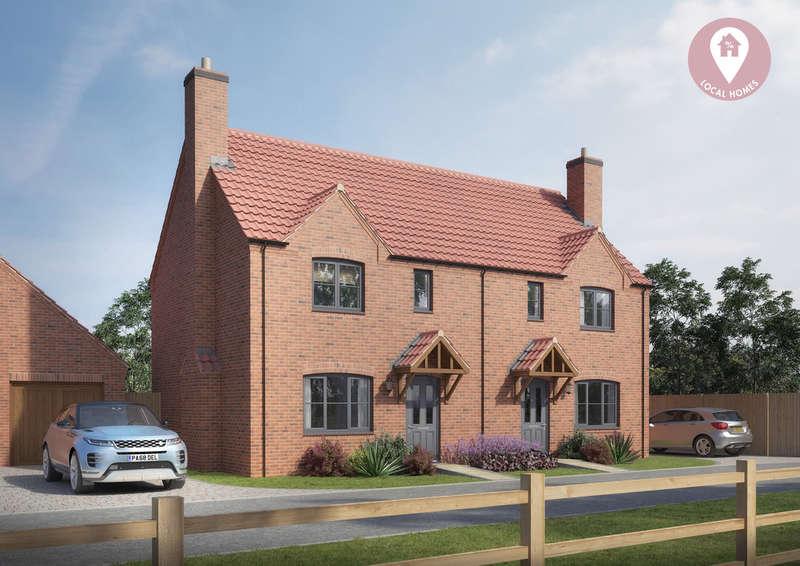 3 Bedrooms Semi Detached House for sale in Glebe Rise, Wymondham, Melton Mowbray