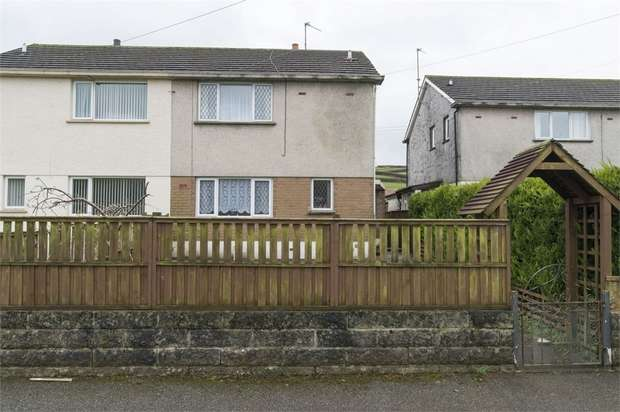 2 Bedrooms Semi Detached House for sale in Bro Rhydybont, Rhydybont, Llanybydder, Carmarthenshire