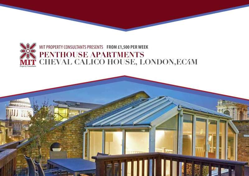 2 Bedrooms Penthouse Flat for rent in Bow Lane, London