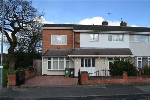 4 Bedrooms End Of Terrace House for sale in Ashbourne Road, Little Bloxwich, Walsall
