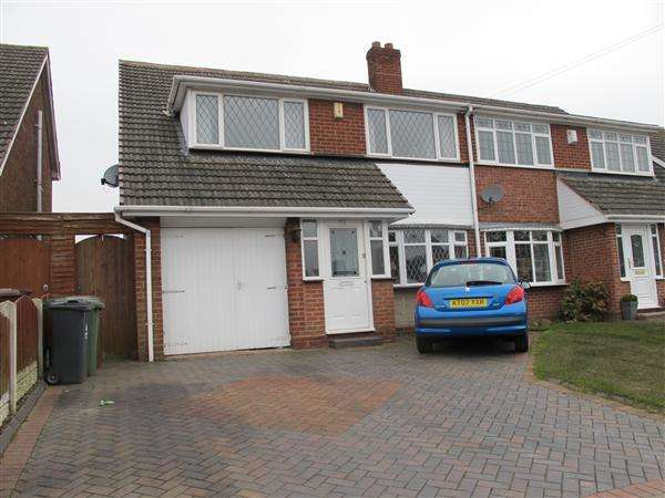 3 Bedrooms Semi Detached House for sale in Knaves Castle Avenue, Brownhills, Walsall