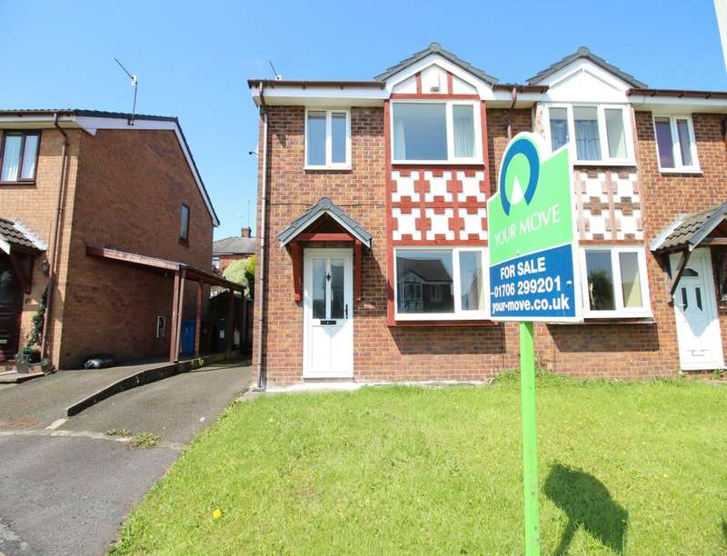 3 Bedrooms Semi Detached House for sale in Blair Close, Shaw, Oldham, OL2