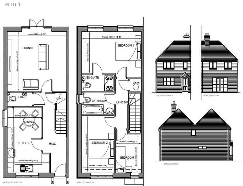 3 Bedrooms Semi Detached House for sale in Shalmsford Street, Chartham, Canterbury, CT4