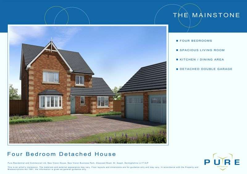 4 Bedrooms Detached House for sale in Plot 6, Dol Hyfryd, Ruthin Road, Denbigh