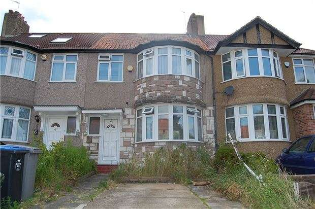 3 Bedrooms Terraced House for sale in Hill View Gardens, LONDON, NW9 0TE