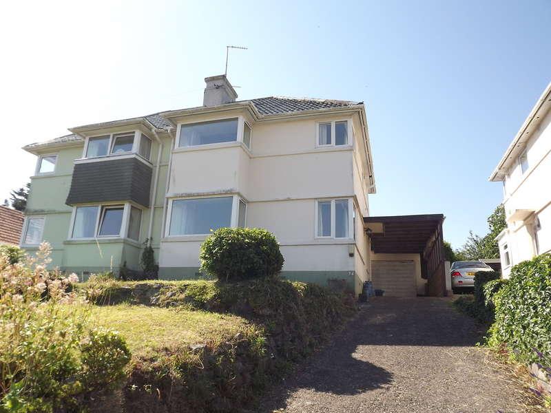 3 Bedrooms Semi Detached House for sale in Burridge Road, Chelston, Torquay