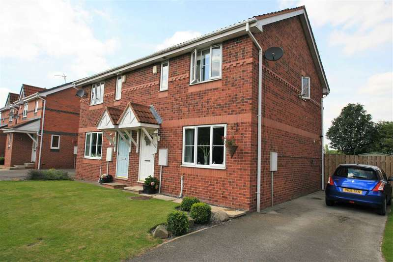 3 Bedrooms Semi Detached House for sale in 12 Lawson Avenue, Boroughbridge, between Harrogate and York, YO51 9UU