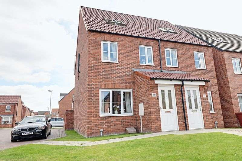 3 Bedrooms Semi Detached House for sale in Whimbrel Chase, Scunthorpe