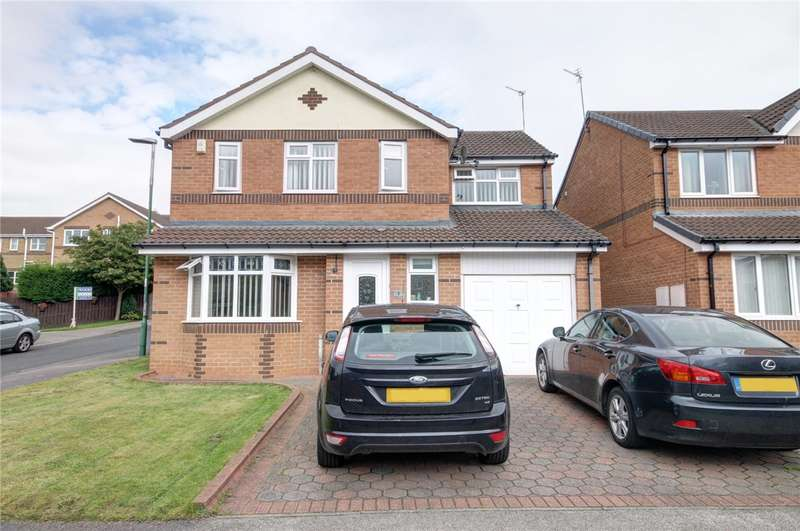 4 Bedrooms Detached House for sale in Hexham Court, Sacriston, Durham, DH7
