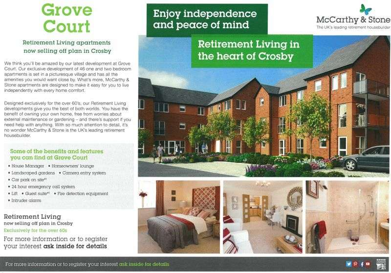 1 Bedroom Flat for sale in Grove Court, 20 Moor Lane, Crosby, L23 2AA