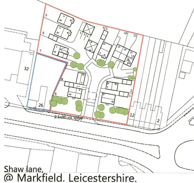 Land Commercial for sale in Building Plot, Shaw Lane, Markfield