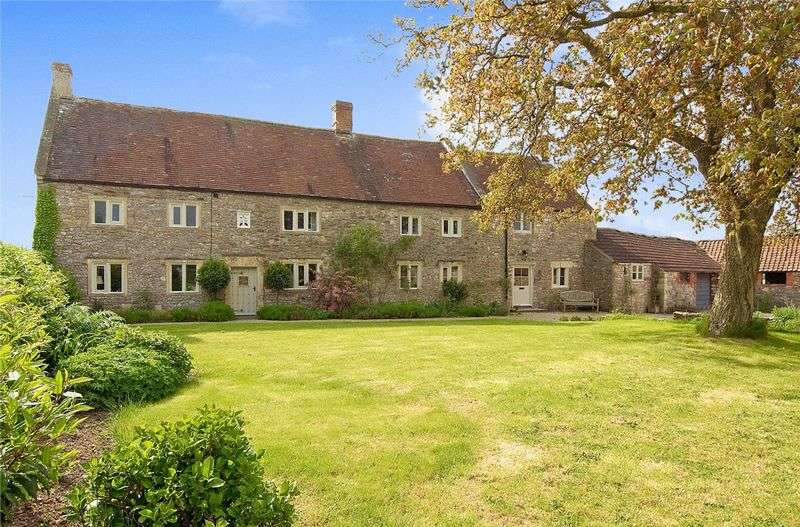 6 Bedrooms Detached House for sale in LEIGH ON MENDIP. Between Wells, Frome, Bristol & Bath