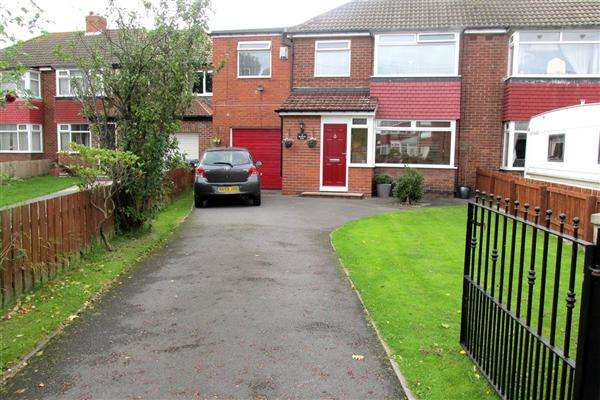 4 Bedrooms Semi Detached House for sale in Woolerton Drive, Newcastle upon Tyne