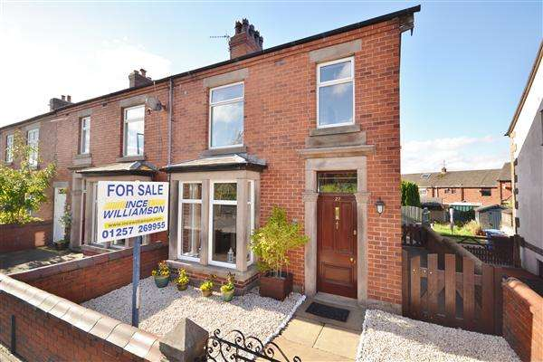 3 Bedrooms End Of Terrace House for sale in Chorley Old Road, Whittle Le Woods, Chorley