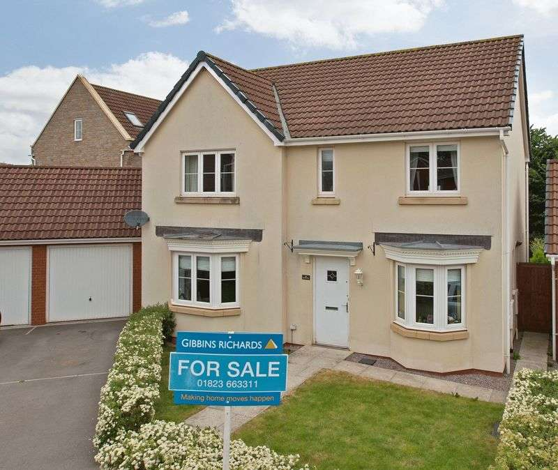 4 Bedrooms Detached House for sale in Pear Tree Way, Wellington