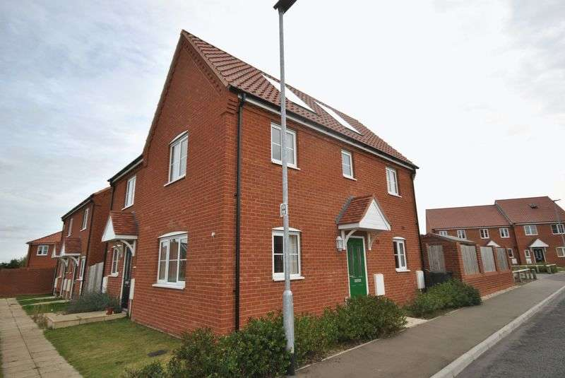 2 Bedrooms Semi Detached House for sale in Burnt Fen Way, Norwich