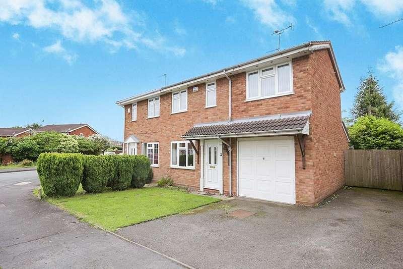 3 Bedrooms Semi Detached House for sale in Wells Close, Perton, Wolverhampton, WV6