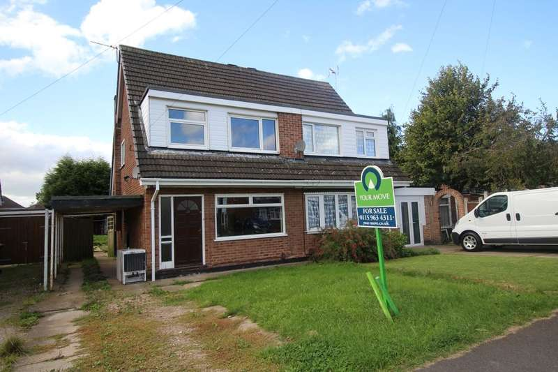 3 Bedrooms Semi Detached House for sale in Holbeck Road, Hucknall, Nottingham, NG15