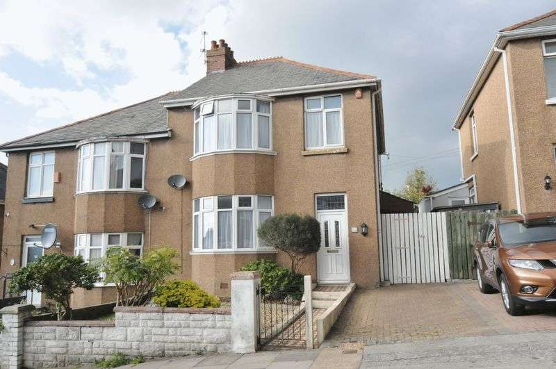 3 Bedrooms Semi Detached House for sale in St. Martins Avenue, Plymouth. Peverell house with driveway and garden.