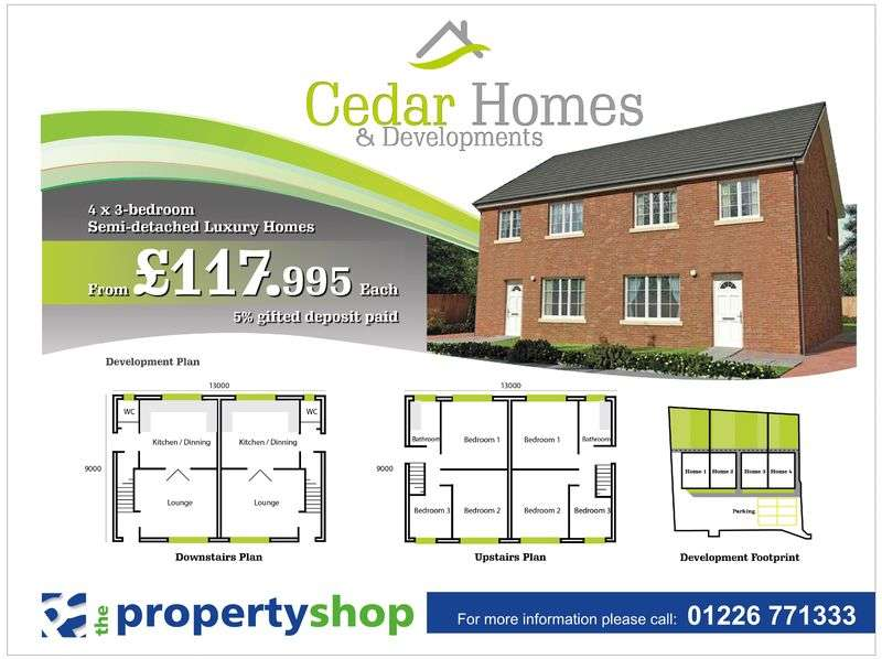 3 Bedrooms Semi Detached House for sale in Honeysuckle Gardens, Barnsley